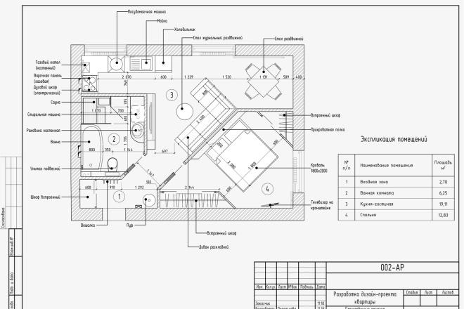 Проект перепланировки квартиры, дома, офиса 1 - kwork.ru