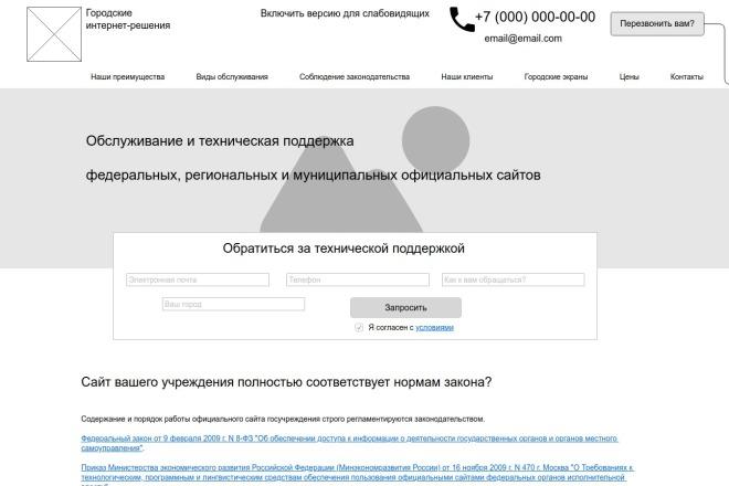 Прототип + текст лендинга 10 - kwork.ru