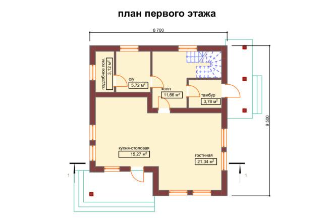 3д моделирование и визуализация экстерьеров домов 13 - kwork.ru