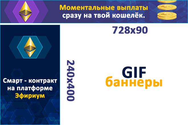 Сделаю 2 качественных gif баннера 6 - kwork.ru