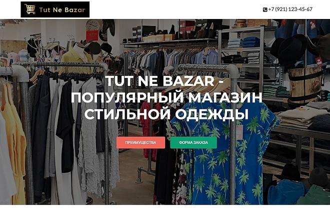 Создание одностраничника на Wordpress 15 - kwork.ru