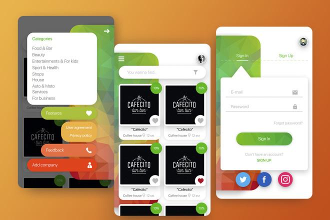 Дизайн Вашего приложения. iOS и Android 6 - kwork.ru