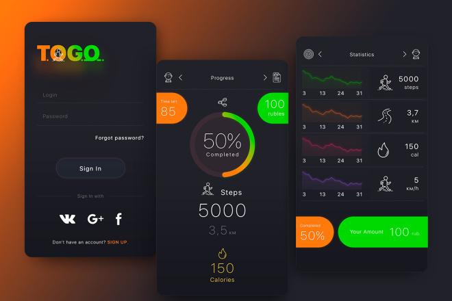 Дизайн Вашего приложения. iOS и Android 5 - kwork.ru