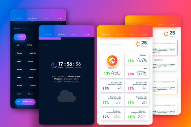 Дизайн Вашего приложения. iOS и Android 4 - kwork.ru