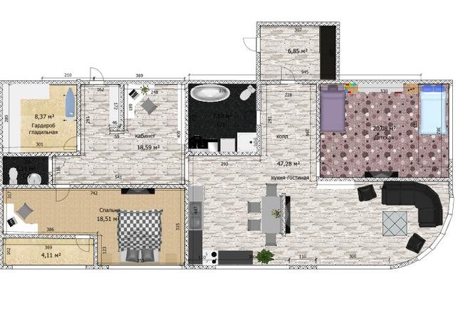 Интересные планировки квартир 62 - kwork.ru