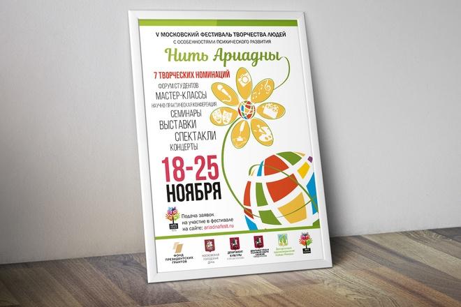 Дизайн плакаты, афиши, постер 54 - kwork.ru