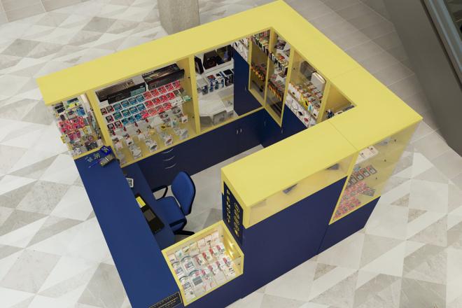3D моделинг и визуализация торгового острова 2 - kwork.ru