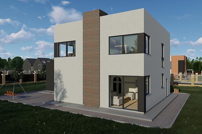 Фотореалистичная 3D визуализация экстерьера Вашего дома 147 - kwork.ru