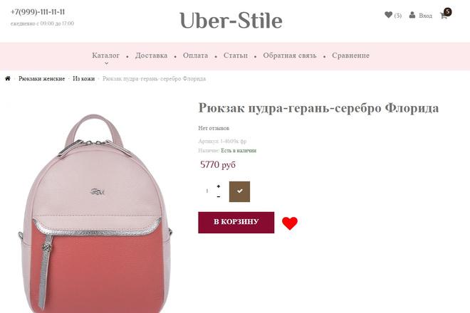 Поправлю верстку на любом шаблоне inSales 3 - kwork.ru