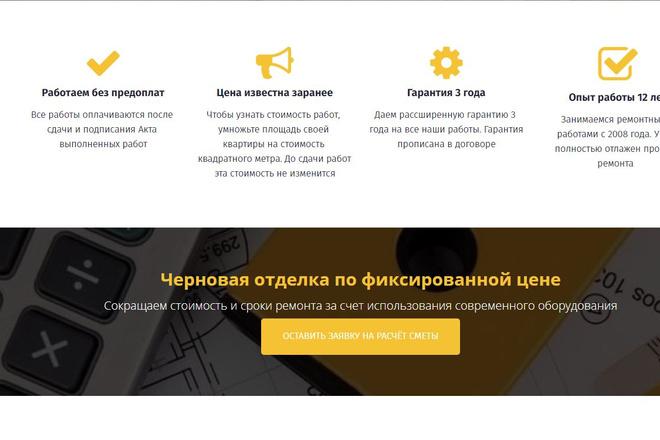 Скопировать Landing page, одностраничный сайт, посадочную страницу 1 - kwork.ru