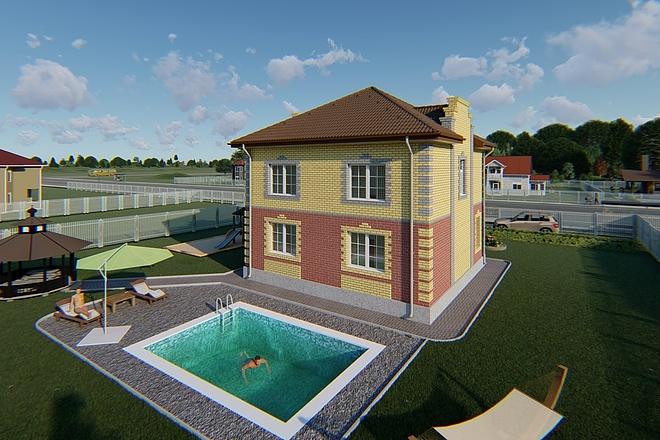 Фотореалистичная 3D визуализация экстерьера Вашего дома 164 - kwork.ru