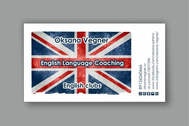 Дизайн визиток 58 - kwork.ru