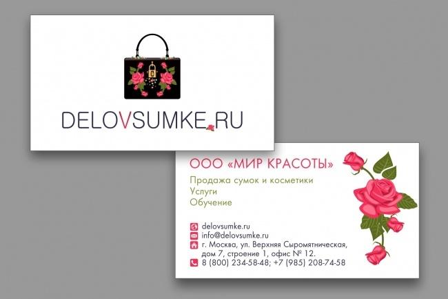 Дизайн визиток 56 - kwork.ru