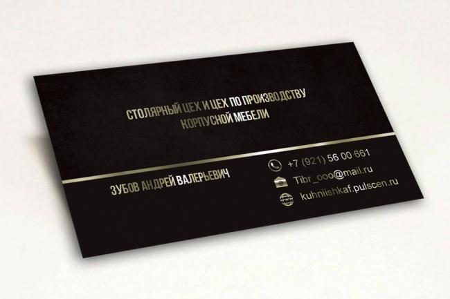 Сделаю дизайн визитки, визитных карточек 76 - kwork.ru