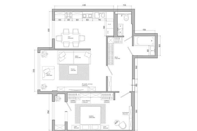 Планировочное решение вашего дома, квартиры, или офиса 13 - kwork.ru