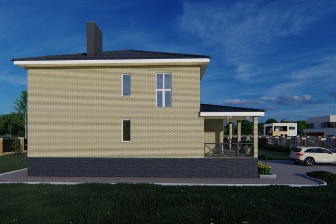 Фотореалистичная 3D визуализация экстерьера Вашего дома 71 - kwork.ru