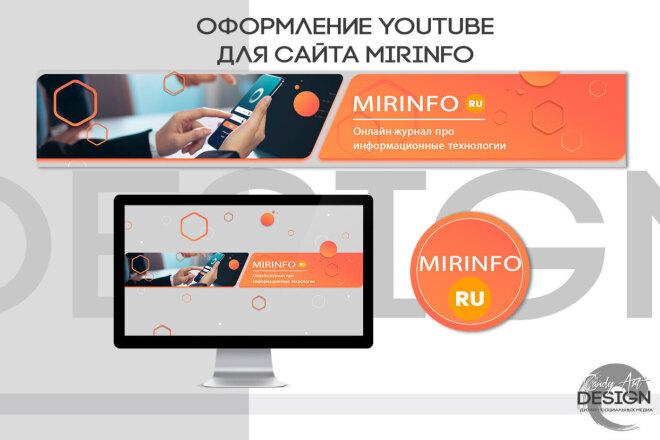 Оформление канала Ютуб. Дизайн шапки Youtube 11 - kwork.ru