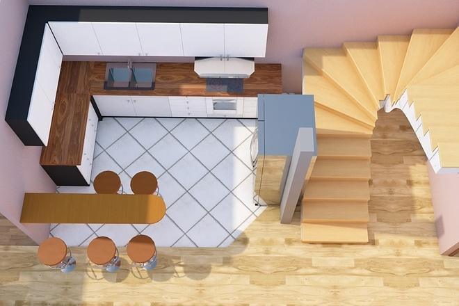Создам планировку дома, квартиры с мебелью 46 - kwork.ru