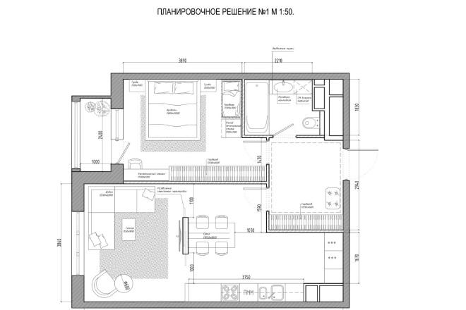 Планировочное решение вашего дома, квартиры, или офиса 4 - kwork.ru
