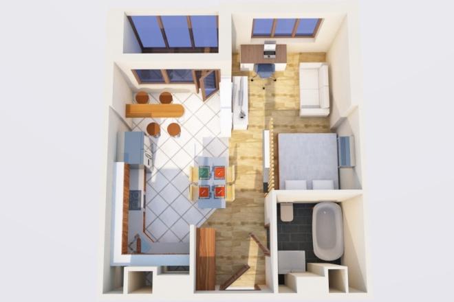 Создам планировку дома, квартиры с мебелью 34 - kwork.ru
