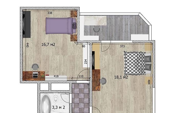 3d визуализация квартир и домов 24 - kwork.ru
