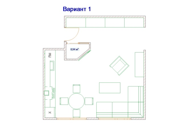 Планировочные решения. Планировка с мебелью и перепланировка 110 - kwork.ru