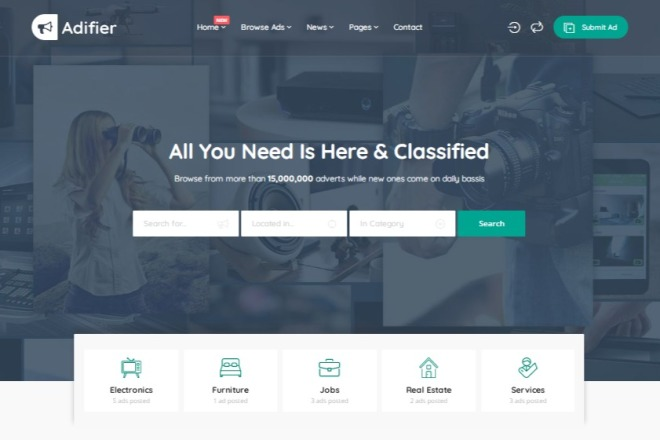 WordPress - Adifier - Доска объявлений 2 - kwork.ru