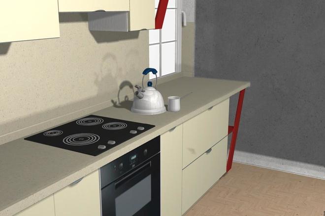 Создам 3D дизайн-проект кухни вашей мечты 14 - kwork.ru