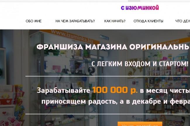 Создам лендинг на популярных платформах 15 - kwork.ru