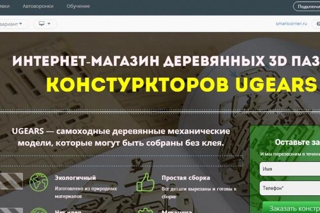 Создам лендинг на популярных платформах 34 - kwork.ru