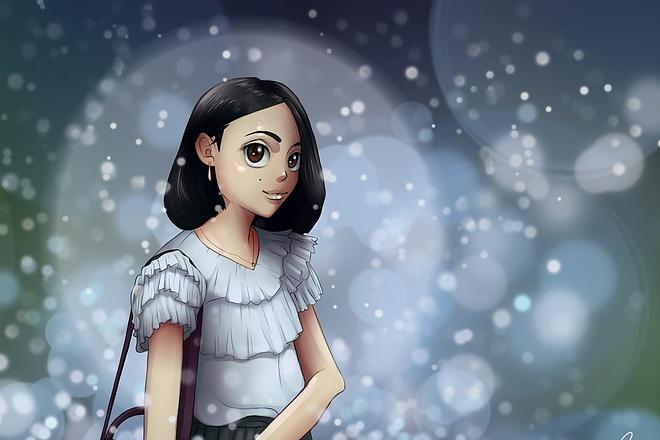 Иллюстрационный портрет по фотографии в стилях Манга или Аниме 8 - kwork.ru