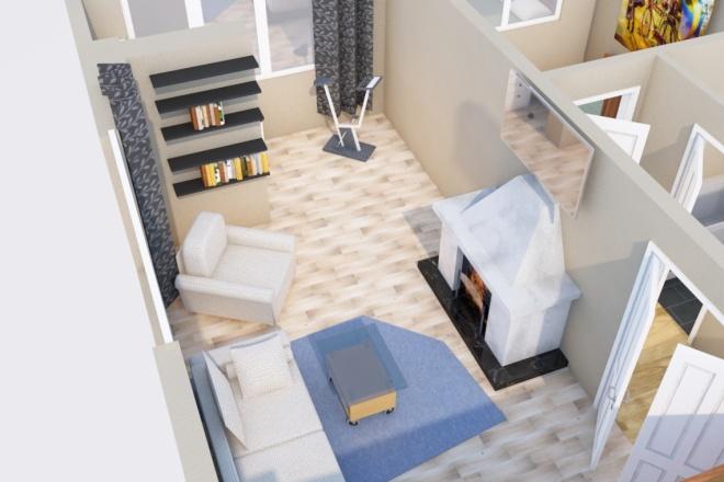Создам планировку дома, квартиры с мебелью 13 - kwork.ru