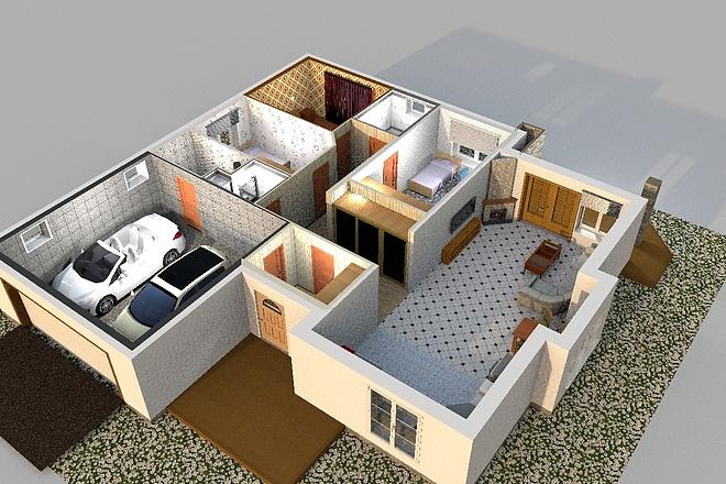3D визуализация помещений 20 - kwork.ru