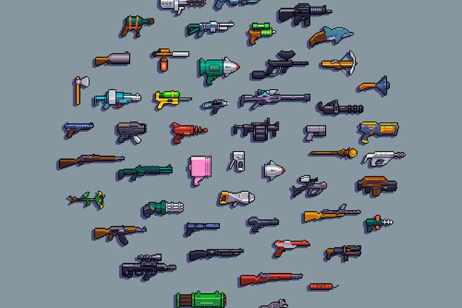 Пиксельная графика и анимация для игр. Персонажи 8 - kwork.ru