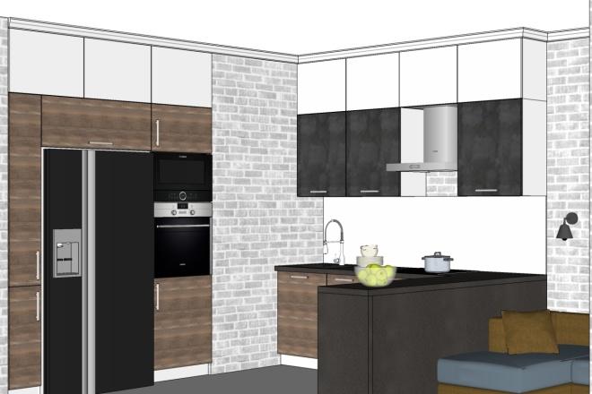 Дизайн-проект кухни. 3 варианта 5 - kwork.ru