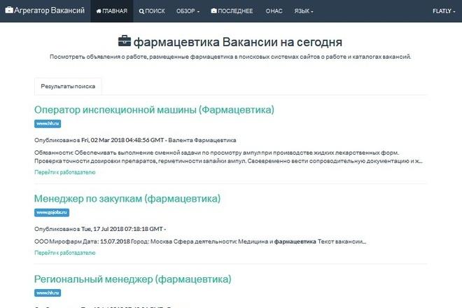 Создам полностью автоматический Агрегатор Вакансий - для заработка 4 - kwork.ru