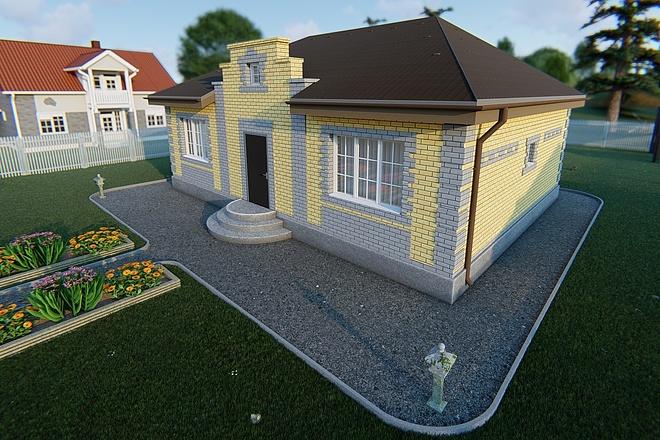 Фотореалистичная 3D визуализация экстерьера Вашего дома 172 - kwork.ru