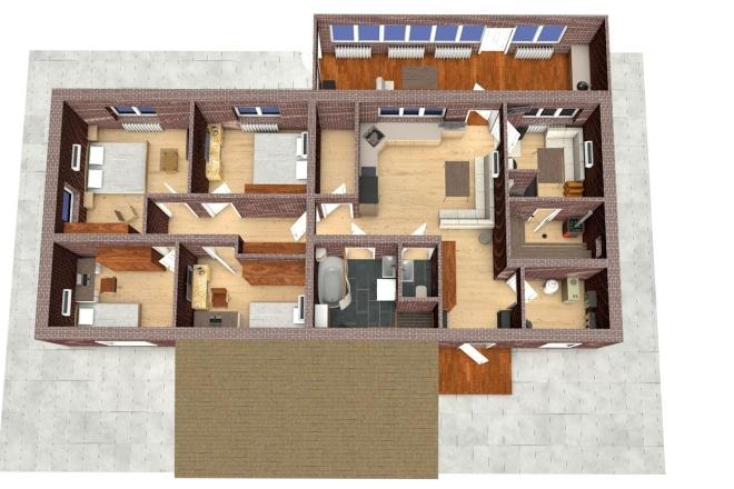 Создам планировку дома, квартиры с мебелью 38 - kwork.ru