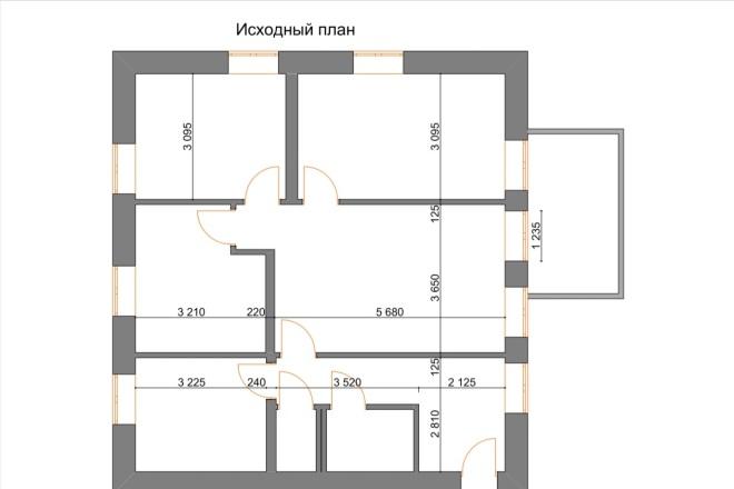 Планировочные решения. Планировка с мебелью и перепланировка 12 - kwork.ru