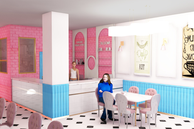 Интерьеры ресторанов, кафе 17 - kwork.ru