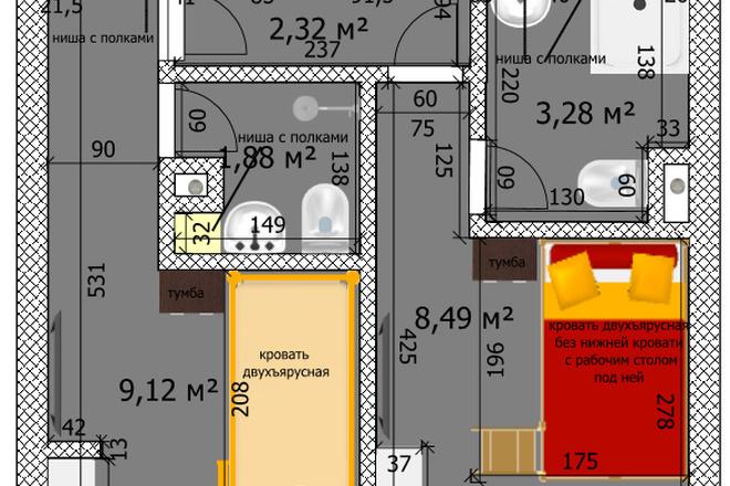 Интересные планировки квартир 52 - kwork.ru