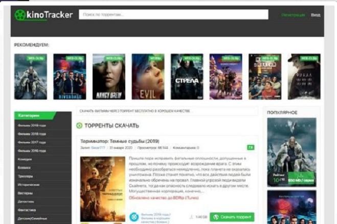 Создам киносайт автонаполняемый на DLE 8 - kwork.ru