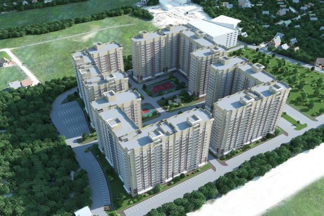 Качественная 3D визуализация фасадов домов 10 - kwork.ru