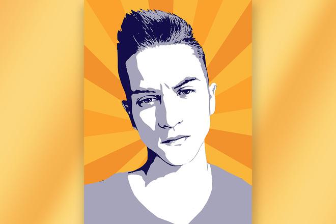 Поп-арт портрет по фотографии 1 - kwork.ru