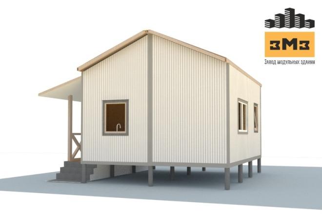 3D Моделирование навеса + визуализация 22 - kwork.ru