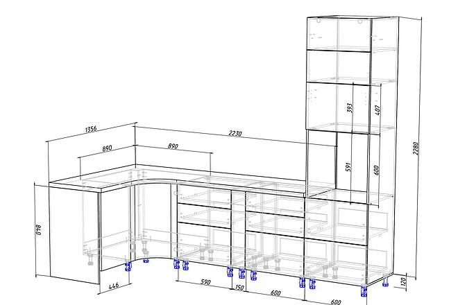 Конструкторская документация для изготовления мебели 80 - kwork.ru