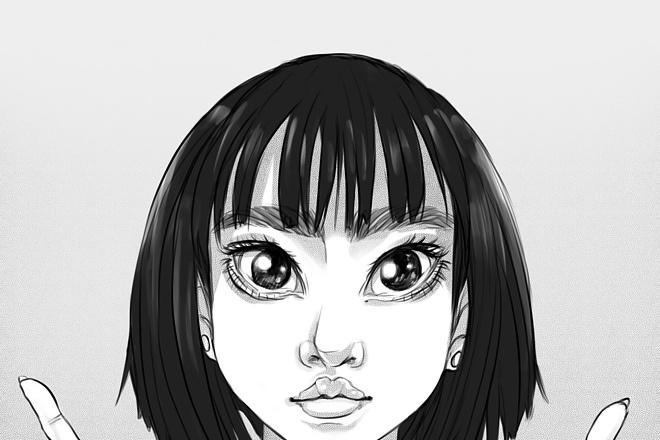 Иллюстрационный портрет по фотографии в стилях Манга или Аниме 10 - kwork.ru