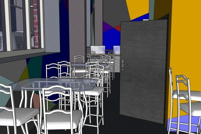 SketchUp l Планировка интерьеров 18 - kwork.ru