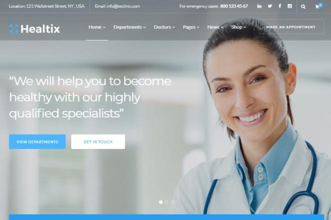 Многоцелевая медицинская красивая тема на WordPress 3 - kwork.ru