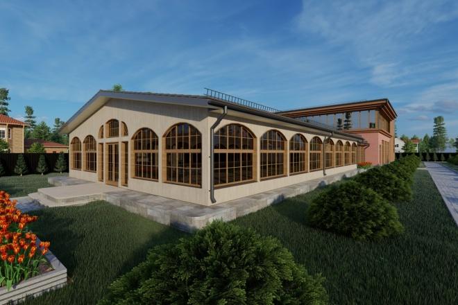 Фотореалистичная 3D визуализация экстерьера Вашего дома 68 - kwork.ru